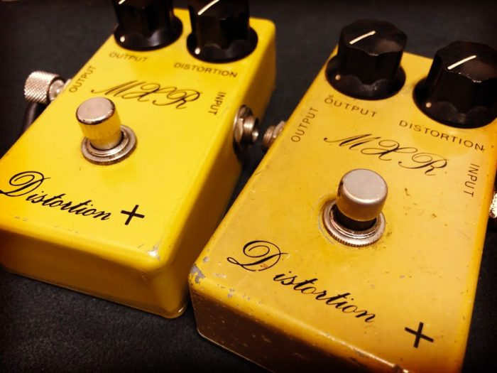 ignition/of/mass-products//所有のMXR Distortion+ 1974年製(BUD BOX)と1975年製の写真